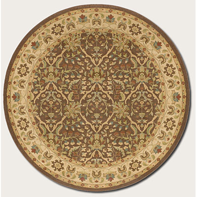 Couristan Pera 8 Round Birjand Chocolate Latte Area Rugs