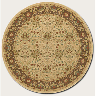 Couristan Pera 8 Round Birjand Latte Chocolate Area Rugs