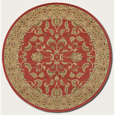 Couristan Pera 8 Round Qum Crimson Latte Area Rugs