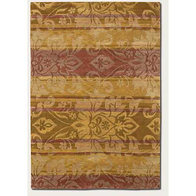 Couristan Pokhara 8 x 11 Abstract Damask Gold Area Rugs