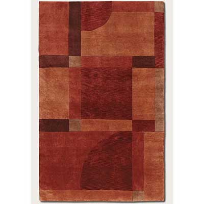 Couristan Pokhara 8 x 11 Aurora Red Miso Area Rugs