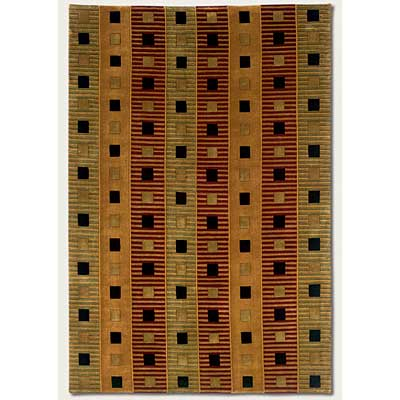 Couristan Pokhara 10 x 13 Matrix Pumpkin Area Rugs