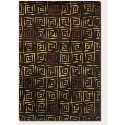 Couristan Pokhara 10 x 13 Serpentine Chocolate Area Rugs