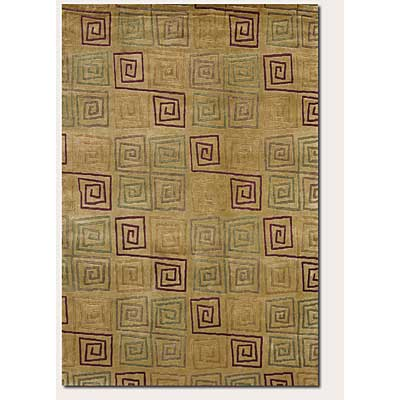 Couristan Pokhara 10 x 13 Serpentine Gold Rust Area Rugs