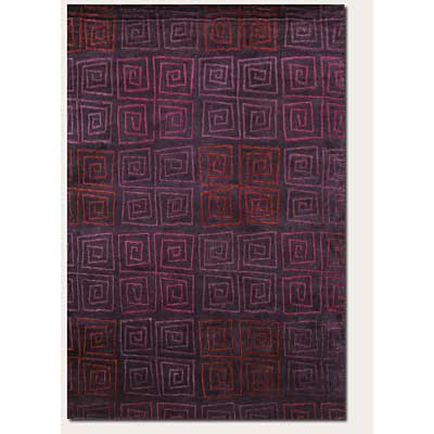 Couristan Pokhara 10 x 13 Serpentine Plum Area Rugs