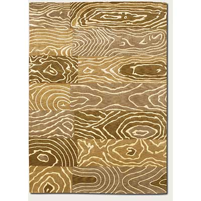 Couristan Pokhara 8 x 11 Wood Grain Gold Beige Area Rugs