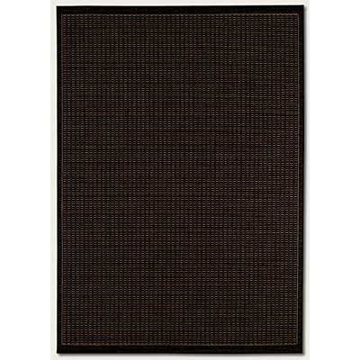 Couristan Recife 7 Round Saddle Stitch Black Cocoa Area Rugs