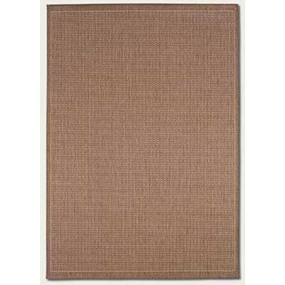 Couristan Recife 7 Round Saddle Stitch Cocoa Natural Area Rugs