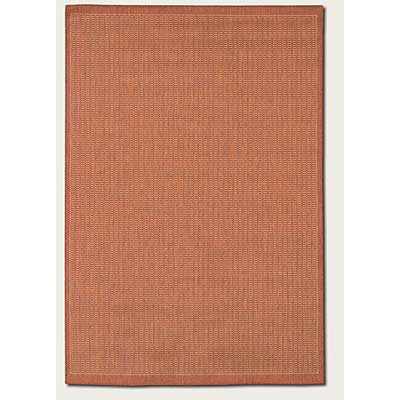 Couristan Recife 7 Round Saddle Stitch Terra Cotta Natural Area Rugs