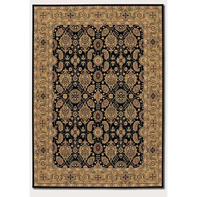 Couristan Royal Kashimar 10 x 14 All Over Vase Black Deep Maple Area Rugs