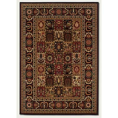 Couristan Royal Kashimar 10 x 14 Antique Nain Black Area Rugs