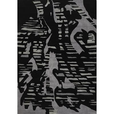 Couristan Rythmia 8 x 11 Shadow Black Grey Area Rugs
