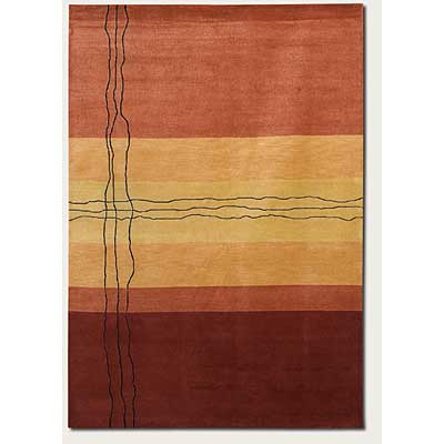 Couristan Rythmia 8 x 11 Sublimity Miso Red Area Rugs