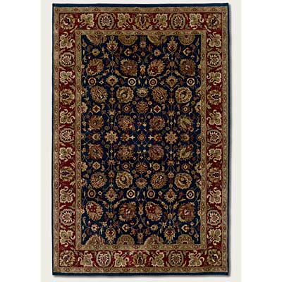 Couristan Shiraz 8 x 11 All Over Floral Midnight Blue Area Rugs