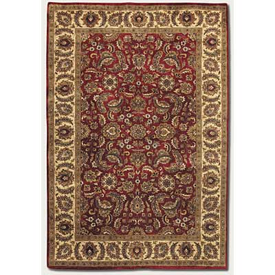 Couristan Shiraz 10 x 13 Floral Mashhad Persian Red Area Rugs