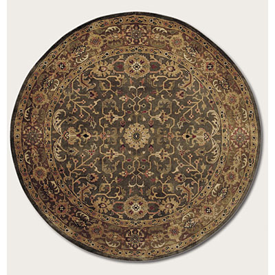 Couristan Shiraz 6 Round Perepedil Kuba Deep Olive Area Rugs