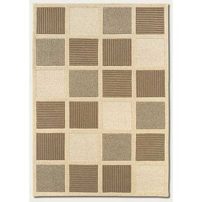 Couristan Super Indo-Natural 6 x 8 Textured Squares Beige Natural Area Rugs