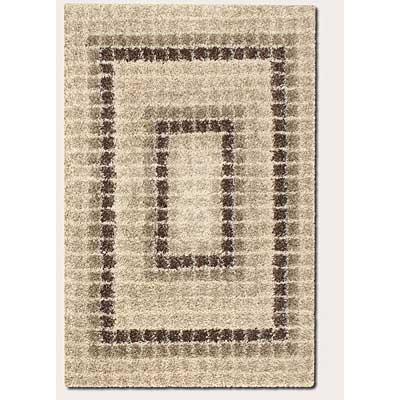 Couristan Visionnaire 5 x 8 Modular Ivory Brown Area Rugs