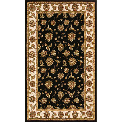 Dynamic Rugs Jewel 10 x 14 Black Beige Area Rugs