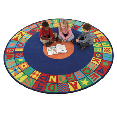 Flagship Carpets Floors That Teach 8 ft Round Floors That Teach Area Rugs