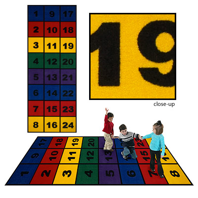 Flagship Carpets Number Blocks 3 x 8 Number Blocks Area Rugs