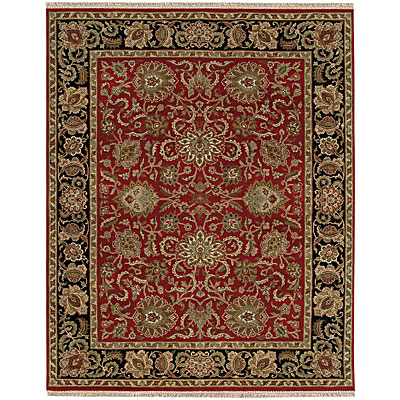 Jaipur Rugs Inc. Atlantis 8 x 10 Shiva Red/Ebony Area Rugs