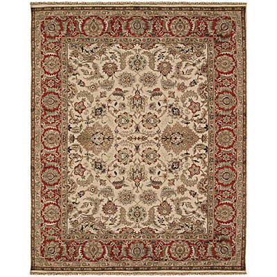 Jaipur Rugs Inc. Atlantis 9 x 12 Taj Dark Ivory/Red Area Rugs