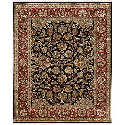 Jaipur Rugs Inc. Atlantis 6 x 9 Taj Ebony/Red Area Rugs