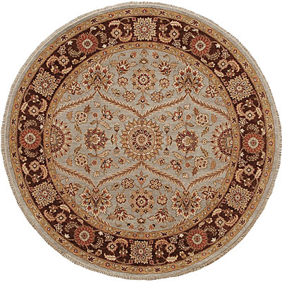 Jaipur Rugs Inc. Atlantis 8 Round Pani Ice Blue/Tobacco Area Rugs