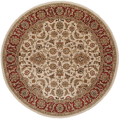 Jaipur Rugs Inc. Atlantis 8 Round Taj Dark Ivory/Red Area Rugs
