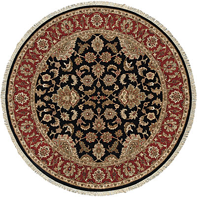 Jaipur Rugs Inc. Atlantis 10 Round Taj Ebony/Red Area Rugs