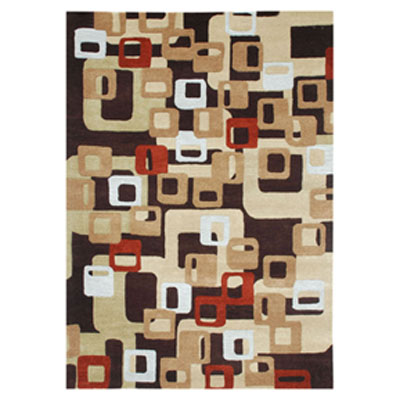 Jaipur Rugs Inc. Blue 5 x 8 Boxed In Deep Espresso/Deep Espresso Area Rugs