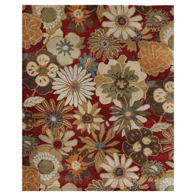 Jaipur Rugs Inc. Blue 8 x 11 Blossom Red/Red Area Rugs