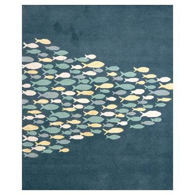Jaipur Rugs Inc. Coastal Living Hand-Tufted 8 x 11 Schooled Aegean Blue/Aegean Blue Area Rugs