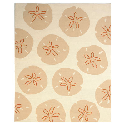 Jaipur Rugs Inc. Coastal Living Indoor-Outdoor 8 x 10 Sand Dollar Dark Ivory/Dark Ivory Area Rugs