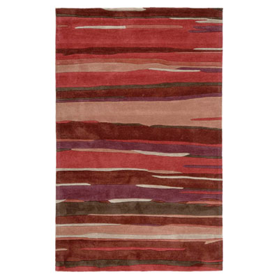 Jaipur Rugs Inc. Fusion 4 x 6 Engrained Deep Red/Deep Red Area Rugs