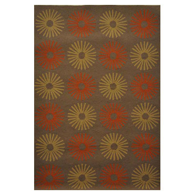 Jaipur Rugs Inc. Grant Design Indoor/Outdoor 8 x 10 Star Power Cocoa Brown/Cocoa Brown Area Rugs