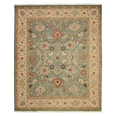 Jaipur Rugs Inc. Jaimak 9 x 12 Kolos Sea Green/Dark Ivory Area Rugs