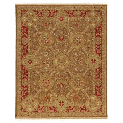 Jaipur Rugs Inc. Jaimak 9 x 12 Samarka Gold Brown/Red Area Rugs