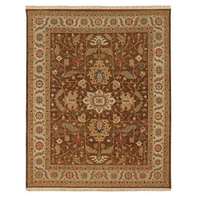 Jaipur Rugs Inc. Jaimak 9 x 12 Margara Cocoa Brown/Soft Gold Area Rugs