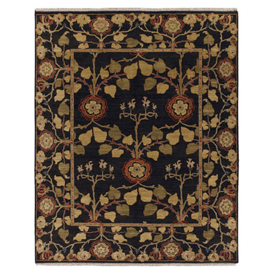 Jaipur Rugs Inc. Opus 10 x 14 Tree of Life Deep Charcoal/Deep Charcoal Area Rugs