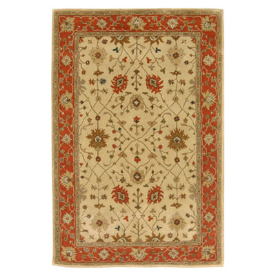 Jaipur Rugs Inc. Poeme 10 x 14 Bordeaux Soft Gold/Red Orange Area Rugs