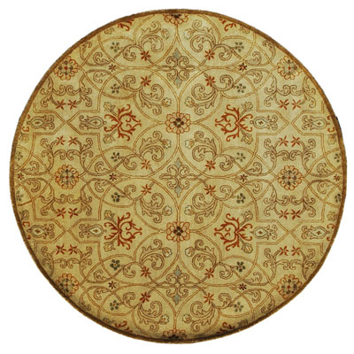 Jaipur Rugs Inc. Poeme 6 Round Calais Soft Gold/Soft Gold Area Rugs