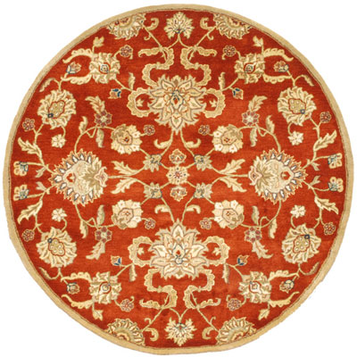 Jaipur Rugs Inc. Poeme 6 Round Marseille Red Oxide/Tan Area Rugs