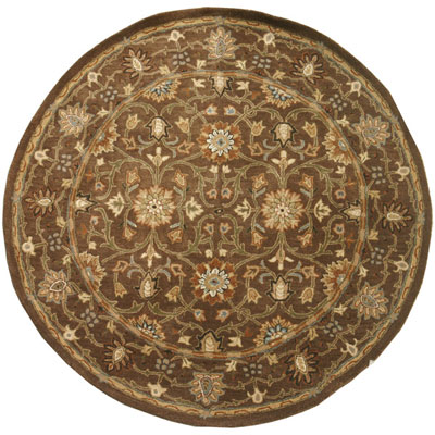 Jaipur Rugs Inc. Poeme 8 Round Rennes Cocoa Brown/Cocoa Brown Area Rugs