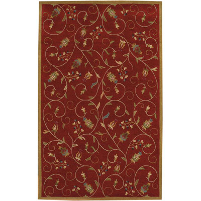 Kaleen Kashmir 10 x 13 Red Area Rugs