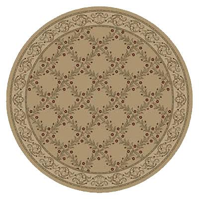 Kane Carpet Elegance 8 Round Incredible Quiet Gold Area Rugs
