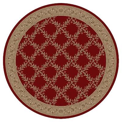 Kane Carpet Elegance 8 Round Incredible Sangria Area Rugs