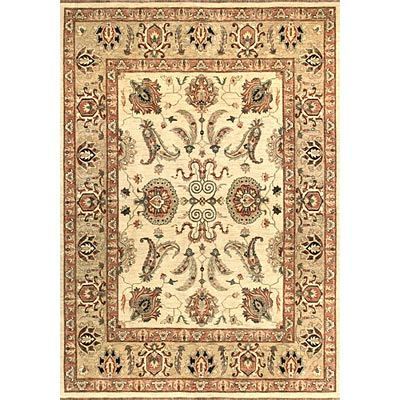 Loloi Rugs Majestic 8 Round Ivory Gold Area Rugs