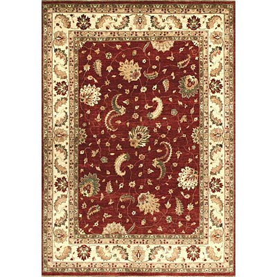 Loloi Rugs Majestic 8 Round Red Ivory Area Rugs